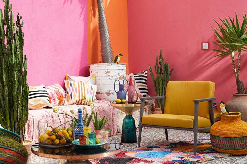 Мебель для гостиной в современном стиле - Фьюжн