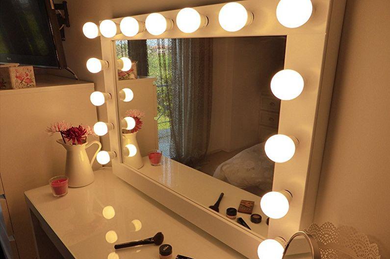 Гримерное зеркало с лампочками - Особенности и достоинства