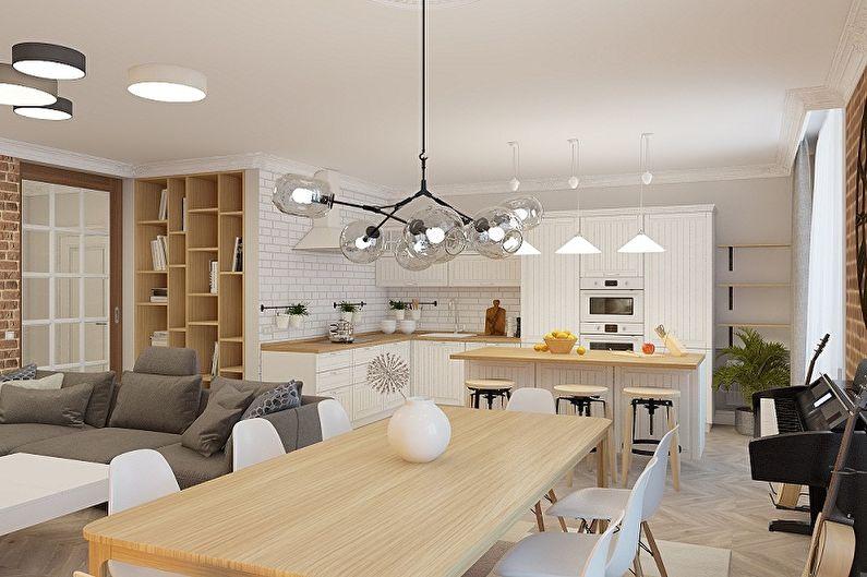 Дизайн кухни в скандинавском стиле - Особенности