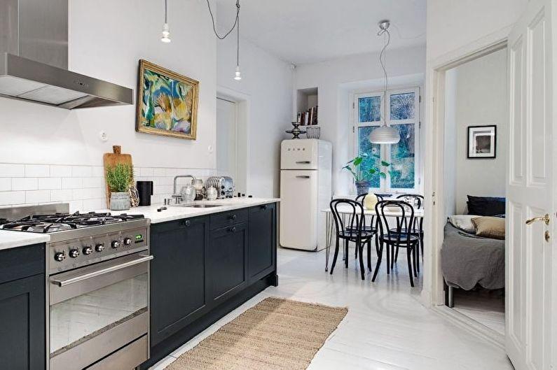 Дизайн кухни в скандинавском стиле - Отделка пола