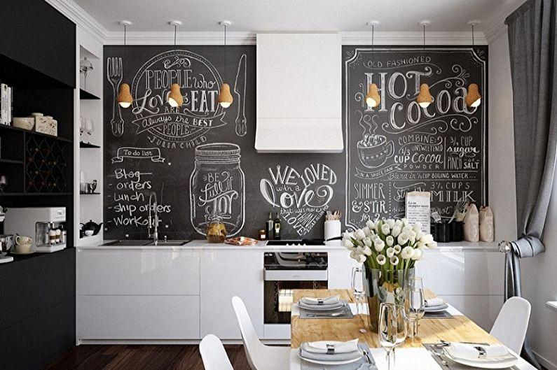 Дизайн кухни в скандинавском стиле - Отделка стен