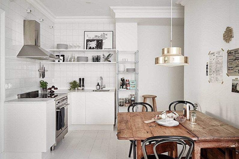Дизайн кухни в скандинавском стиле - Кухонная мебель и техника