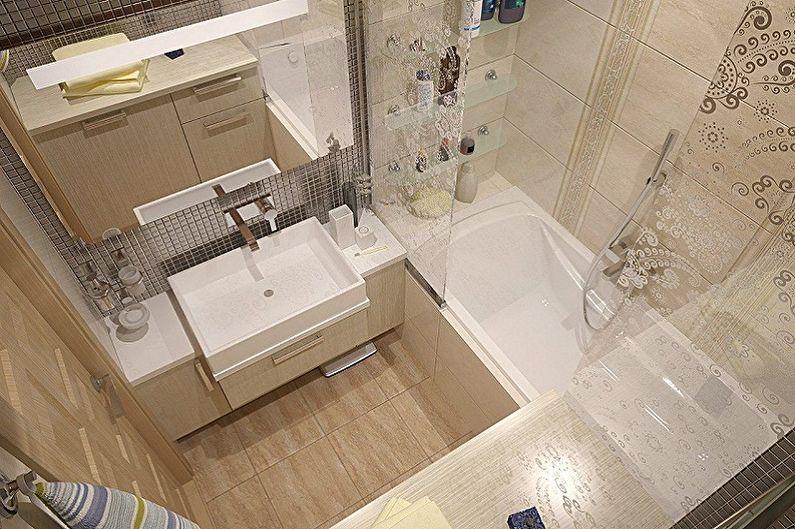 Дизайн ванной комнаты 2 кв.м. - Отделка пола
