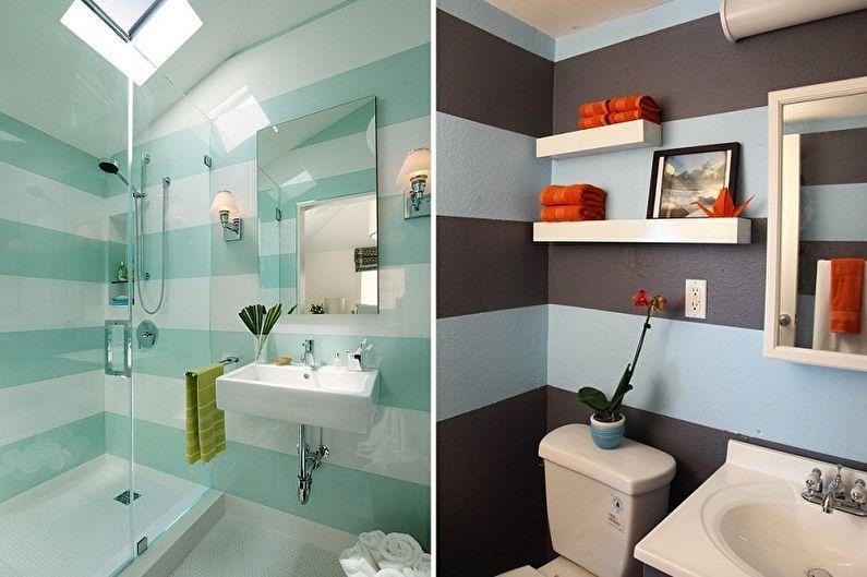 Дизайн ванной комнаты 2 кв.м. - Отделка стен