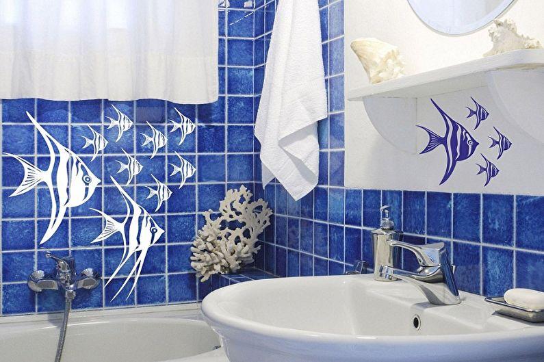 Дизайн ванной комнаты 2 кв.м. - Освещение и декор