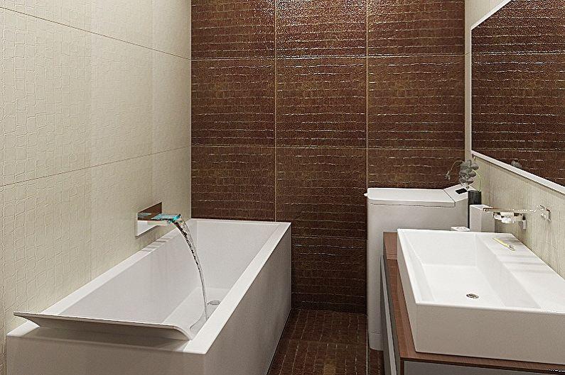 Дизайн ванной комнаты 2 кв.м. в стиле минимализм