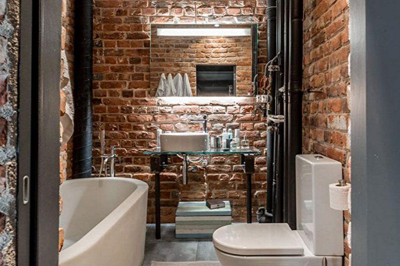 Дизайн ванной комнаты 2 кв.м. в стиле лофт