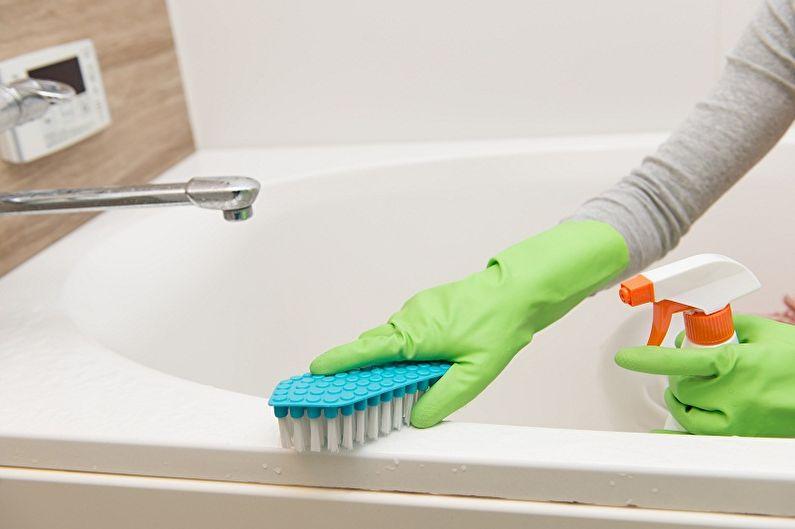 Как очистить чугунную ванну - Профилактика загрязнения