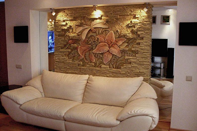 Фреска на стену на эластичной штукатурке