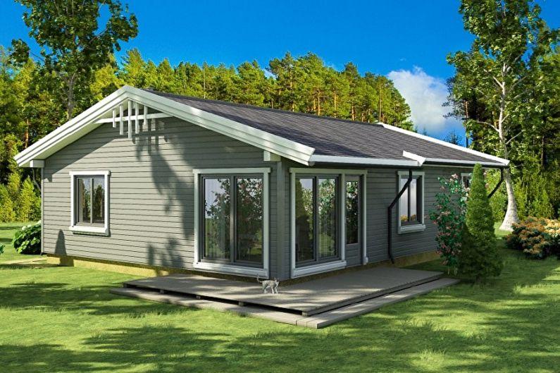 Одноэтажные дома - Преимущества