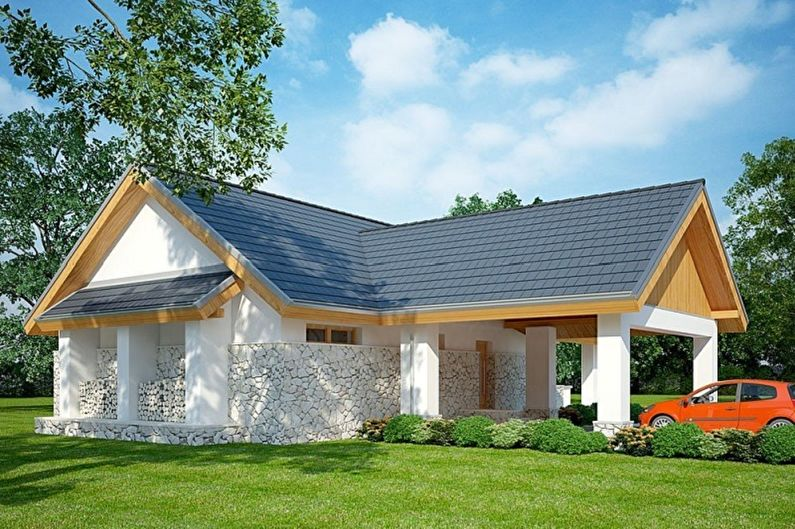 Одноэтажные дома - Из чего построить