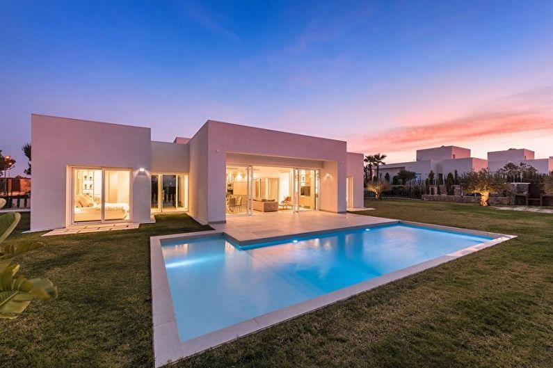 Современные проекты одноэтажных домов - Одноэтажный дом с плоской крышей