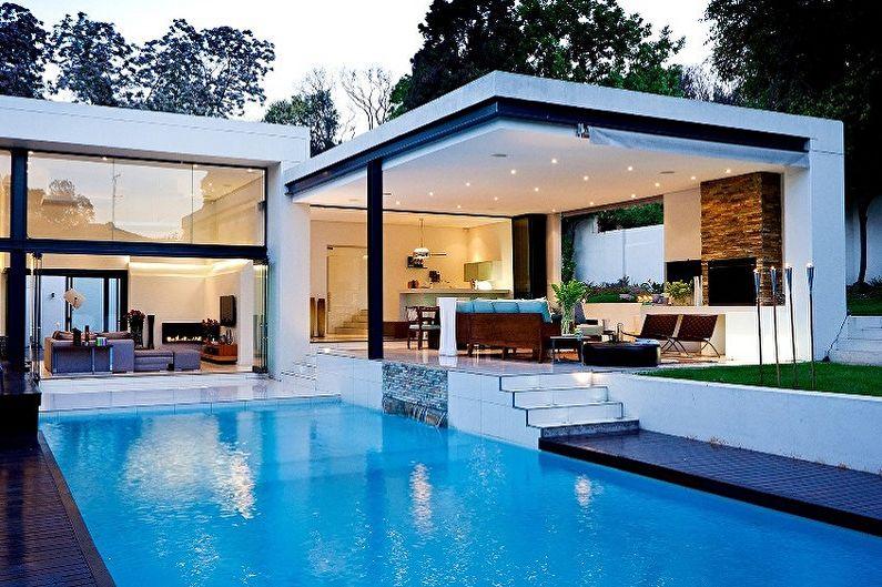 Современные проекты одноэтажных домов - Одноэтажный дом с террасой