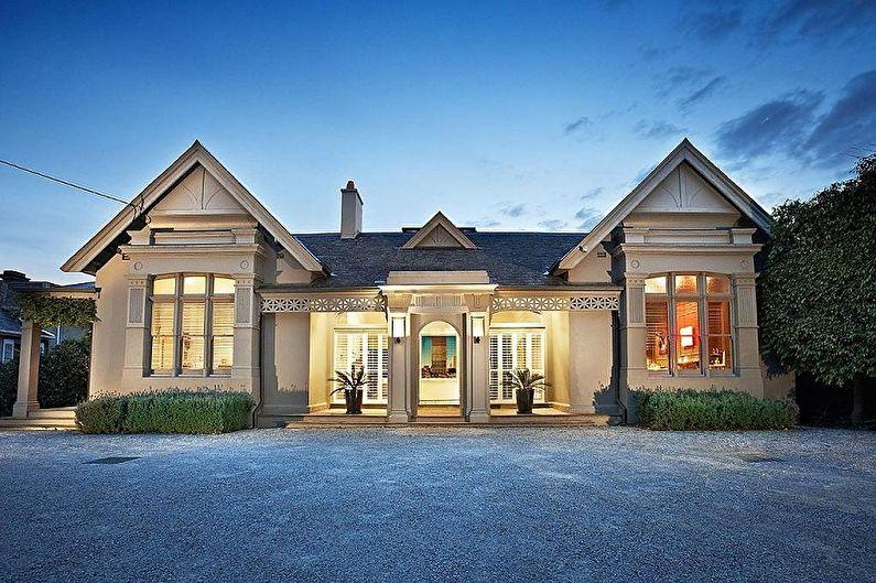 Дизайн одноэтажных домов - Красивые идеи