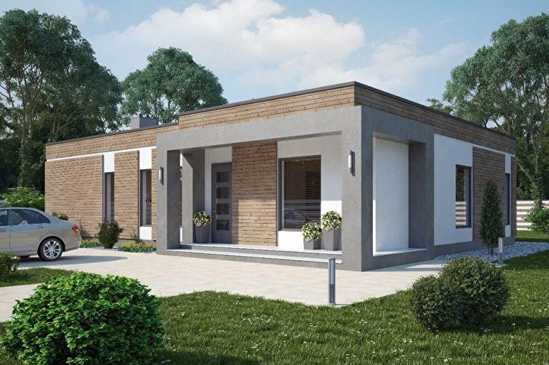Одноэтажные дома - фото и проекты