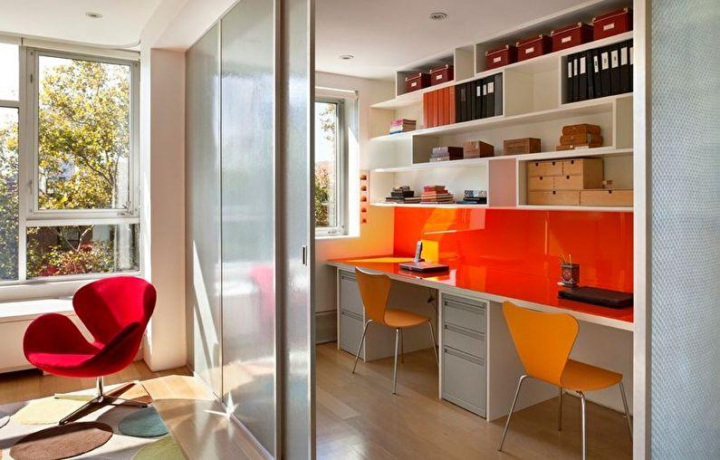 Зонирование комнаты с помощью раздвижных дверей