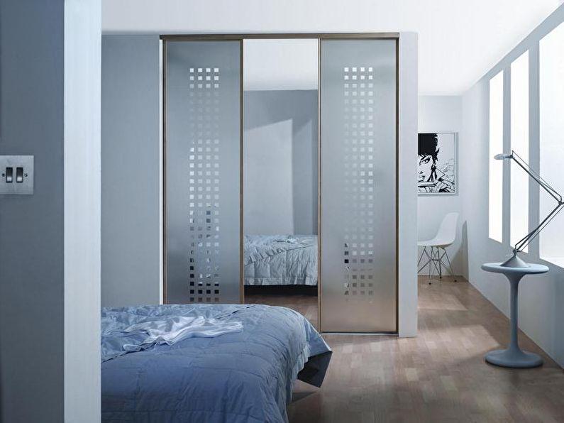 Зонирование комнаты с помощью шкафа