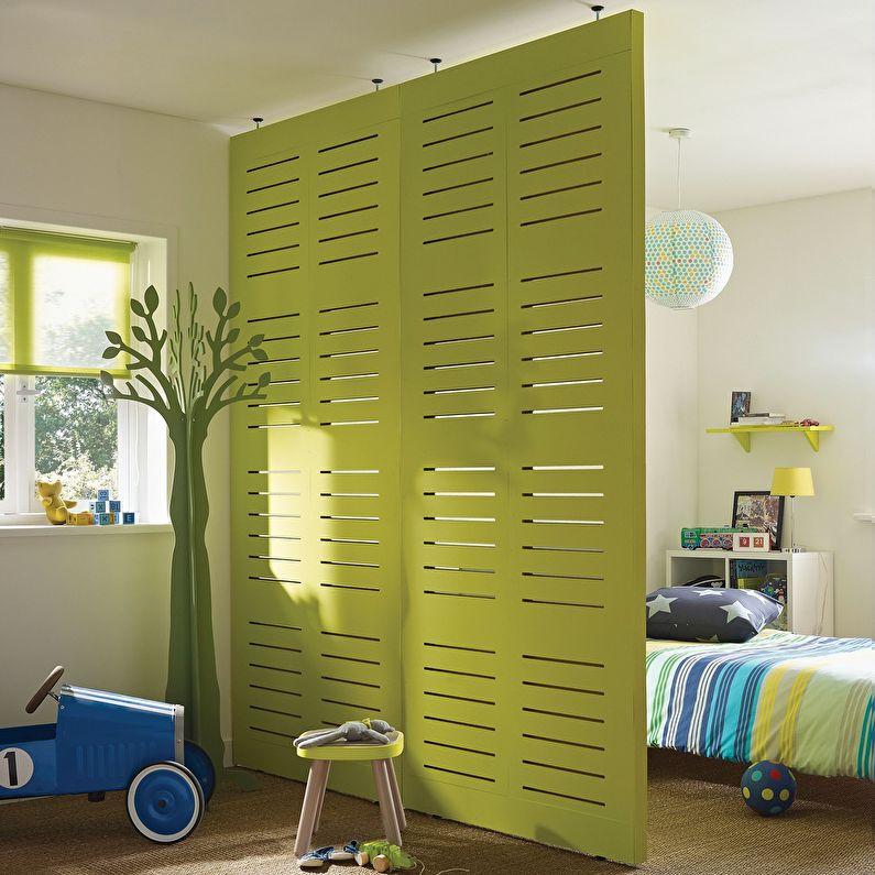 Ширма - зонирование комнаты для родителей и ребенка
