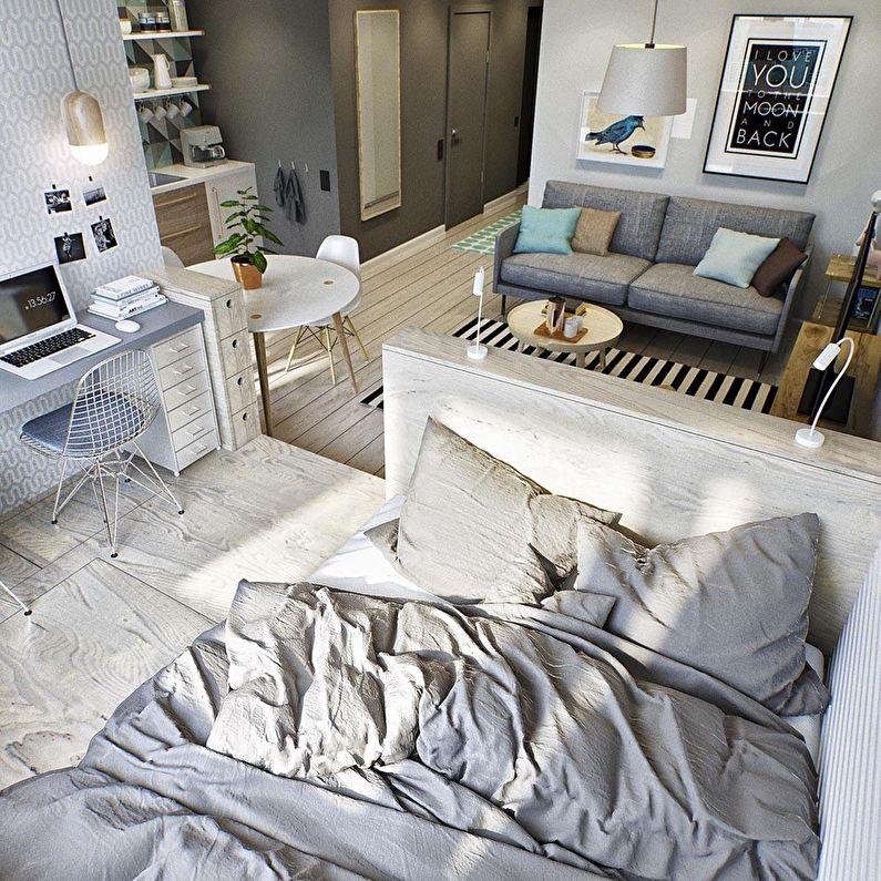 Подиум - зонирование комнаты для родителей и ребенка