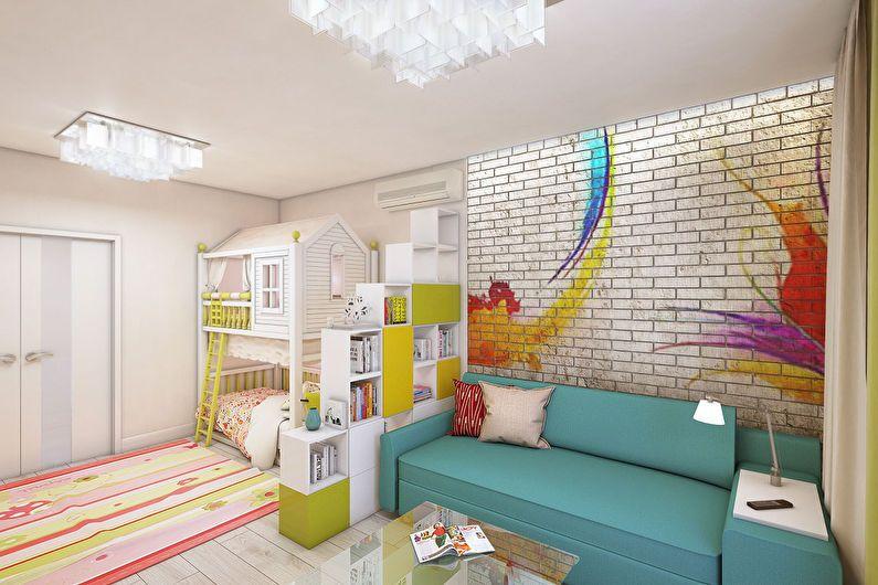 Зонирование комнаты для родителей и ребенка