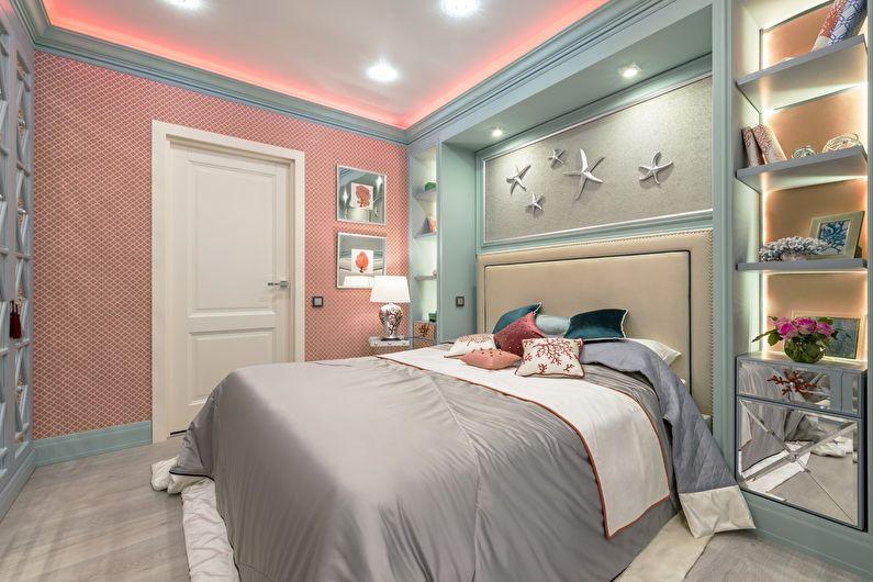 Зонирование спальни для родителей и ребенка