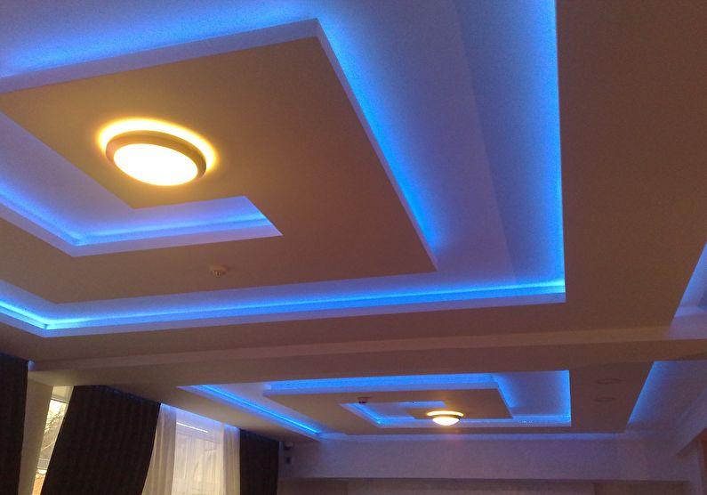 Светодиодная подсветка потолка из гипсокартона