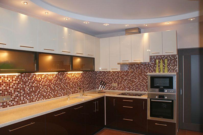 Точечная подсветка потолка из гипсокартона