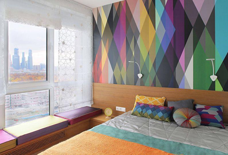 Обои для спальни в современном стиле