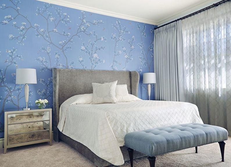Menggabungkan Kertas Dinding Di Dalam Bilik Tidur