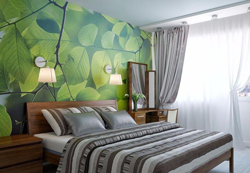 Фотообои для спальни в эко-стиле
