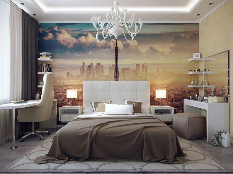 Фотообои для спальни в современном стиле