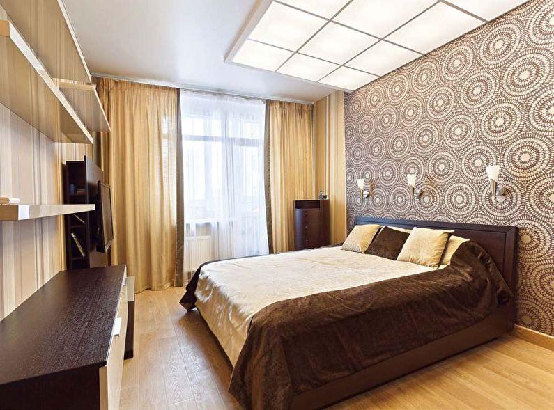 Оригинальные обои для спальни в современном стиле