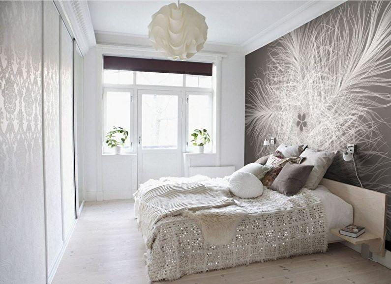 Коричневые фотообои для спальни