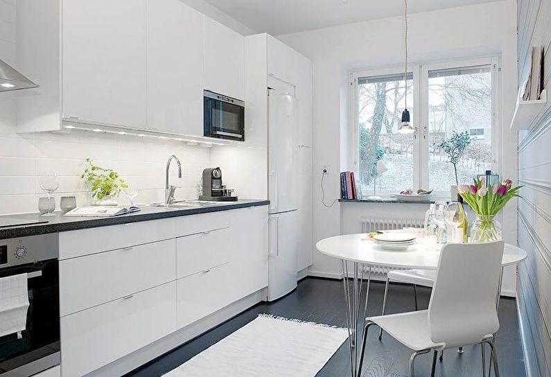 Белая кухня в скандинавском стиле - дизайн