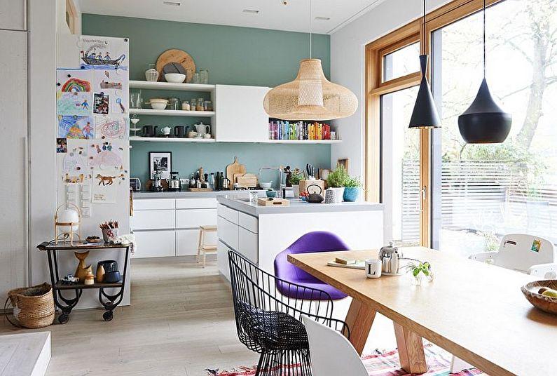 Дизайн кухни в скандинавском стиле - пастельные тона