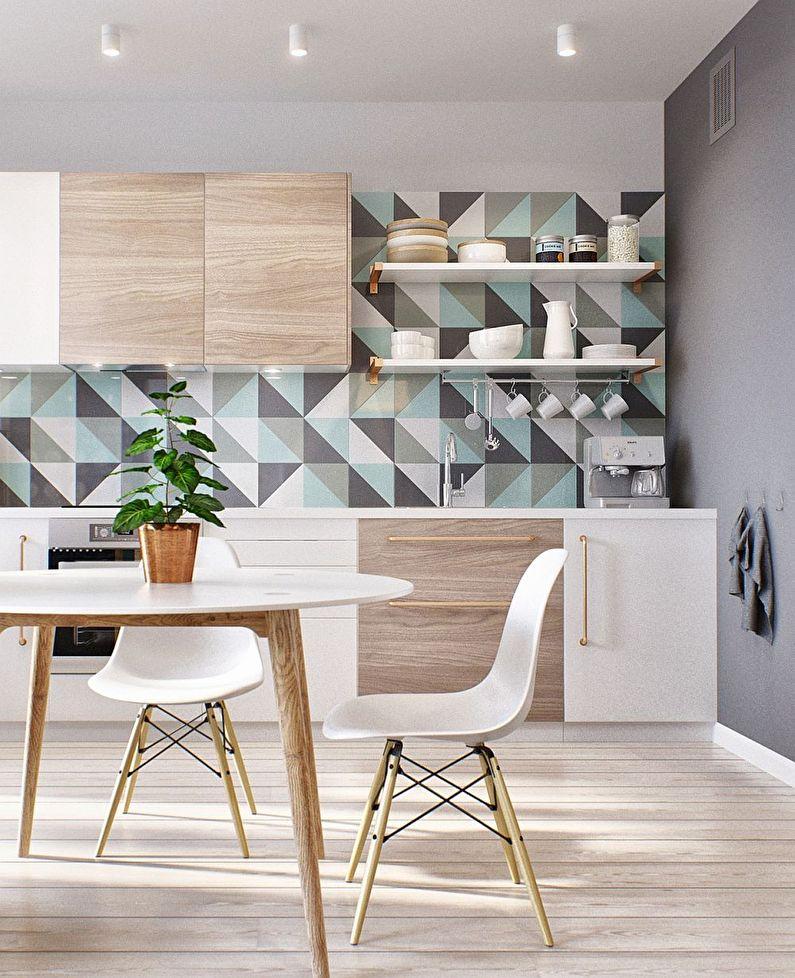 Дизайн стен - кухня в скандинавском стиле