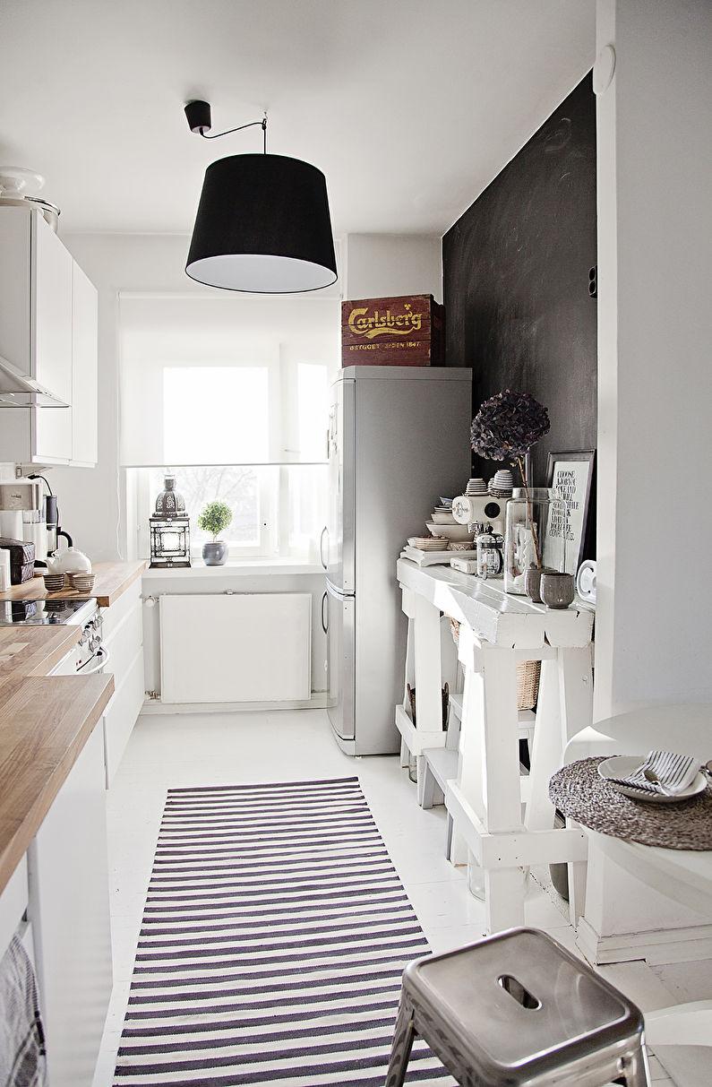 Дизайн потолка - кухня в скандинавском стиле