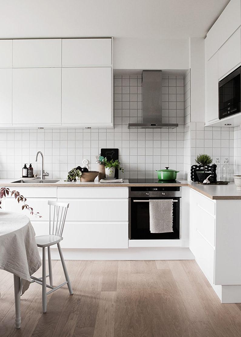 Системы хранения - дизайн кухни в скандинавском стиле