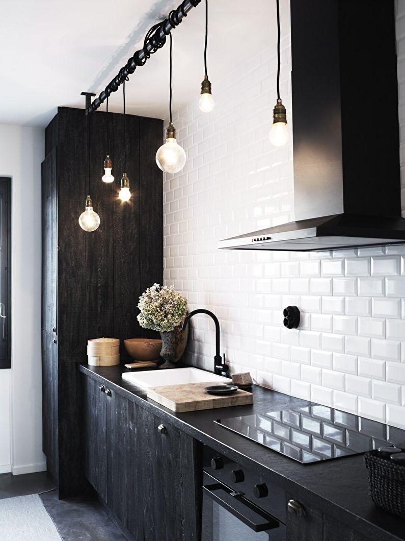 Освещение - дизайн кухни в скандинавском стиле