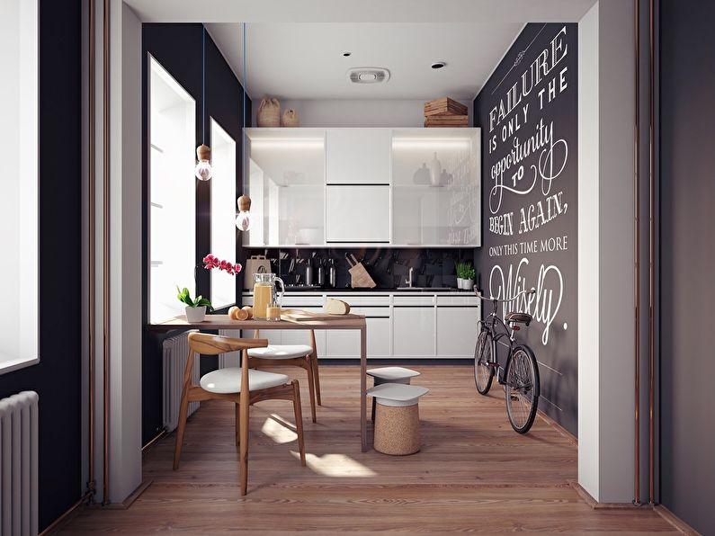 Дизайн маленькой кухни в скандинавском стиле