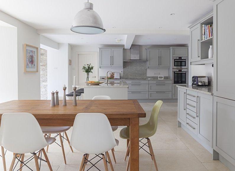 Просторная кухня в скандинавском стиле - дизайн интерьера