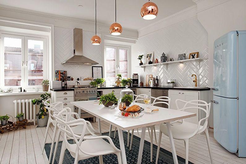 Кухня в скандинавском стиле - дизайн интерьера