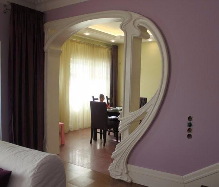 Фигурные арки из гипсокартона - дизайн, фото в интерьере