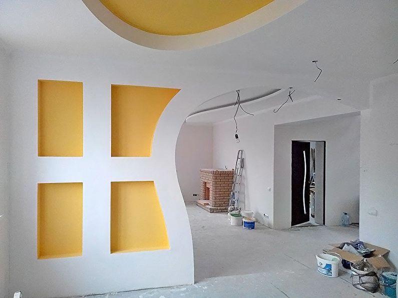 Покраска - отделка и оформление арки из гипсоркатона