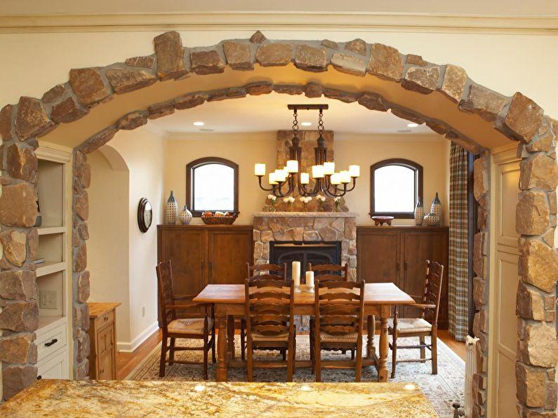 Декоративный камень - отделка и оформление арки из гипсоркатона