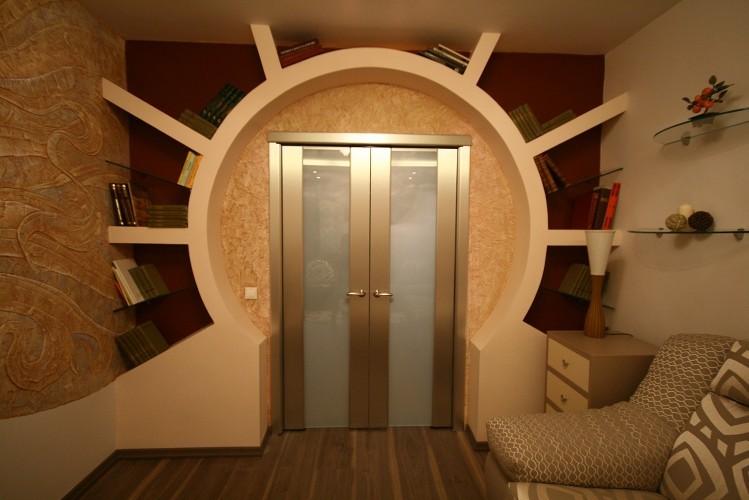 Арка из гипсокартона в гостиной - дизайн