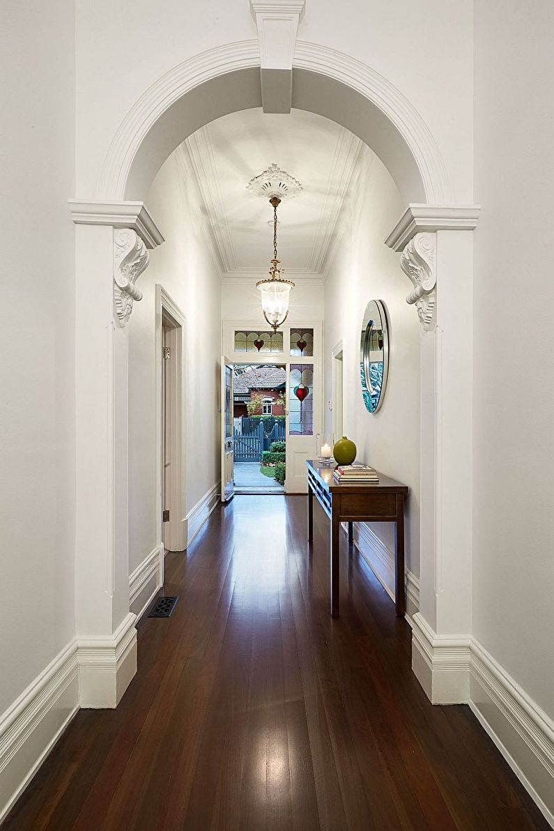 Арка из гипсокартона в прихожей и коридоре - дизайн