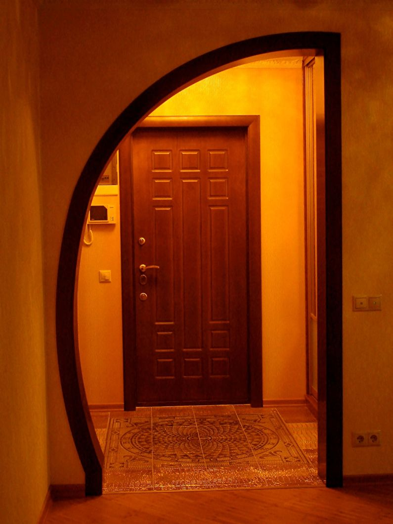 арки из гипсокартона в прихожей фото дизайн электрической