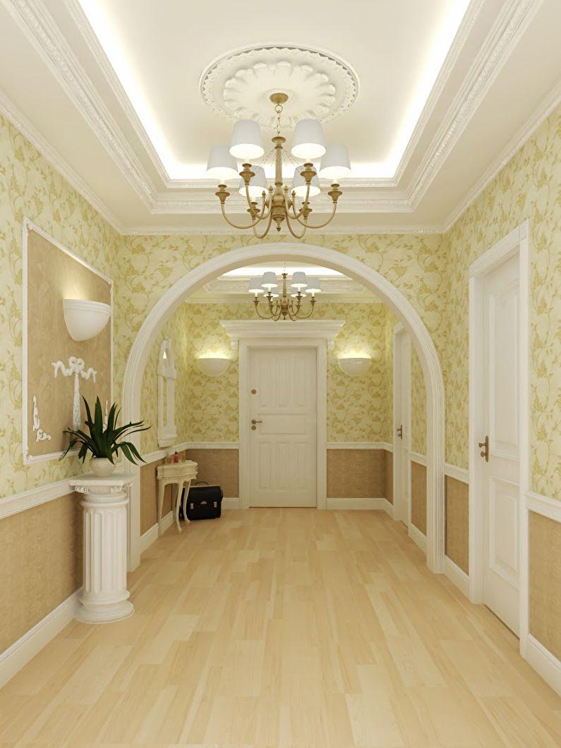 Арка из гипсокартона в коридоре - классический стиль, дизайн