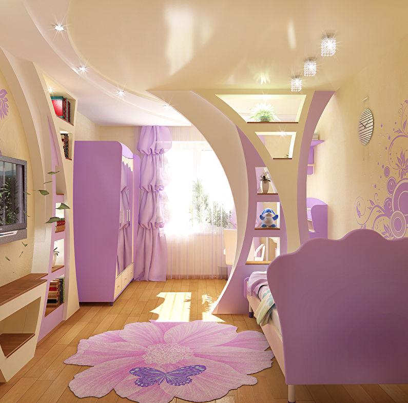 Арка из гипсокартона в детской комнате - дизайн